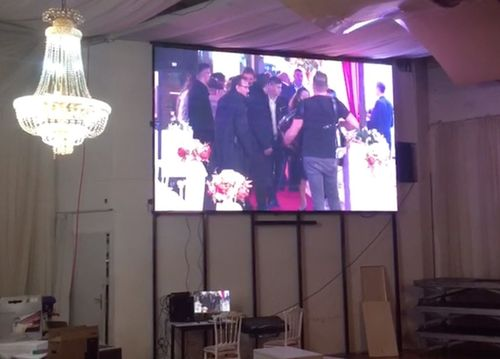 Indoor P3 HD led video display installed in Vienna, Austria