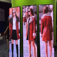 Advertising Front Service Led Display Screen 1.9mm Poster Mirror
