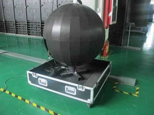 Diameter 1.2m 360 Degree Led Display , Hanging / Floor Stand Led Sphere Balls