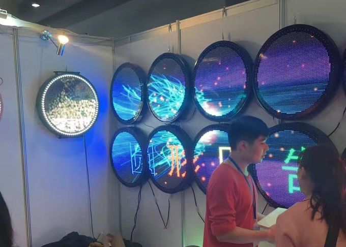 Outdoor Waterproof Round Led Display With Meanwell Power Supply 6000 Nits